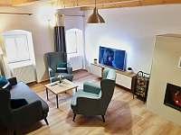Obývák v apartmánu I - k pronajmutí Rožmberk nad Vltavou