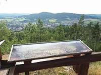 Krásná vyhlídka - pohled na město a vrch Svatobor - Sušice