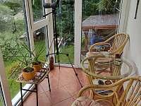 zimní zahrada - chata k pronajmutí Struhadlo