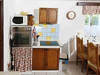 obytná kuchyň - chalupa k pronájmu Frymburk - Posudov