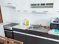 Kuchyň s vybavením - pronájem apartmánu Hojsova Stráž