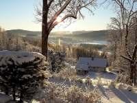Zima a výhled na lipno -