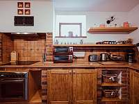 Kuchyň - ubytování Kocourov