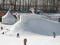 Sjezdovka sněžný hrad - Kocourov