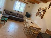 obývací pokoj - chata ubytování Horní Planá - Hůrka
