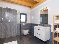 Koupelna v přízemí - apartmán k pronájmu Loučovice