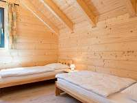 Ložnice s oddělenými postelemi - apartmán ubytování Loučovice