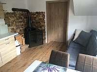 krb v obývací kuchyni - chata k pronájmu Lipno nad Vltavou - Kobylnice