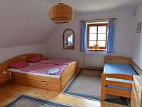 Apartmán A - ložnice - ubytování Nový Dvůr