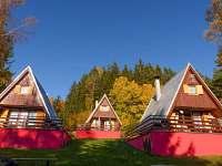 šestilůžkové chaty - ubytování Horní Planá - Jenišov