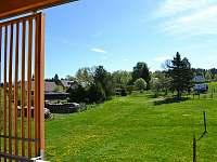výhled z balkonu - apartmán ubytování Stožec