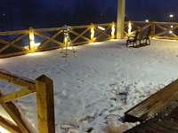 Osvetlena terasa - Bavorská Ruda