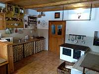kuchyně - pronájem chalupy Sviňovice