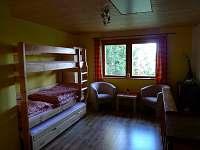 podkroví-obývací ložnice - chata ubytování Horní Planá