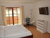 Ložnice s balkónem a krbem