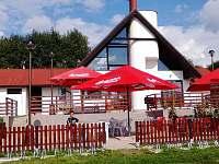 Restaurace Koliba pod hotelem Fontána na Hrdoňově.