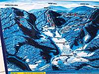 mapa lyžařských areálů, náš apartmán je hned vedle Nad Nádražím a pod Belvederem