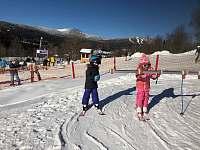 Nad Nádražím sjezdovka s dětkým parkem pro nejmenší lyžaře, instruktoři, ...