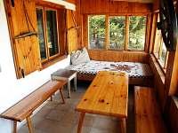 veranda - pronájem chaty Nová Pec