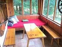 veranda - chata k pronajmutí Nová Pec