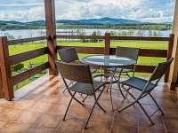 Pohled z terasy - rekreační dům ubytování Černá v Pošumaví