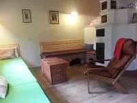 obývací prostor - chalupa k pronájmu Soběšice