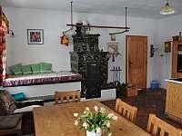 kachlová kamna a ležení na peci velký apartmán