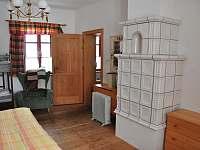 ložnice velký apartmán - pronájem chalupy Pohorská Ves - Lužnice