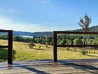 Sadařská chata - výhled z terasy - ubytování Zelená Lhota
