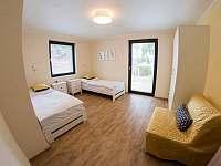 Ložnice apartmánu H7 s rozkládacím křeslem