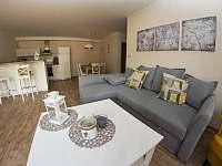 Obývací prostor v apartmánu H7