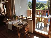 Apartmán 1 - Vchod na balkón z kuchyně - ubytování Nová Pec - Pěkná