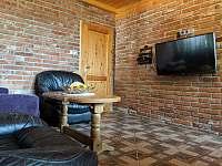 Apartmán 2 - obývák s novou LG smart TV - Nová Pec - Pěkná