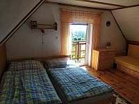 velká ložnice - chata k pronajmutí Horní Planá