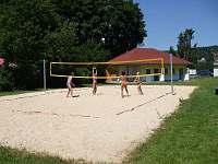 Hřiště na pláži v Horní Plané.