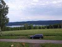 výhled na jezero - chata k pronájmu Slupečná