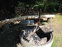 Možnost grilování na roštu nebo kameni - chata k pronájmu Černá v Pošumaví - Radslav