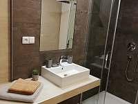 Koupelna apartmánu 1. typu - k pronajmutí Lipno nad Vltavou