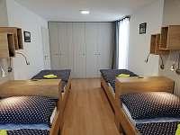 Ložnice se čtyřmi lůžky apartmánu 1. typu - k pronájmu Lipno nad Vltavou