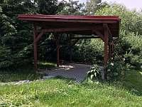 přístřešek pro parkování v zahradě
