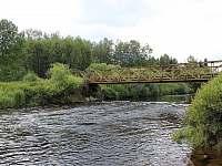 Chalupa v Pěkné - most přes řeku Vltavu - k pronájmu