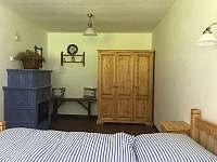 Ložnice přízemí - chalupa ubytování Žírec