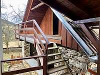 Chalupa Nezdice na Šumavě 103 (krytá terasa směrem na louku) - ubytování Nezdice na Šumavě