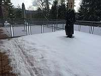 terasa v zimě