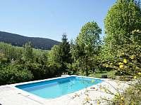 venkovní bazén 7x4x1,4 - chata ubytování Městiště