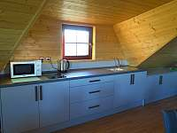 Kuchyně - srub ubytování Hlavňovice