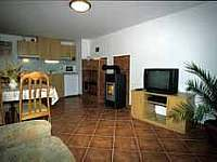 Obývák přízemí - apartmán k pronájmu Borová Lada