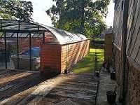 Zahrada - chata ubytování Křišťanovice