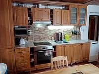 kuchyňská linka plně vybavená + myčka na nádobí - pronájem chalupy Lazny