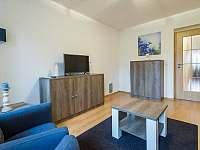 Obývací pokoj s TV - apartmán k pronájmu Nová Pec - Nové Chalupy